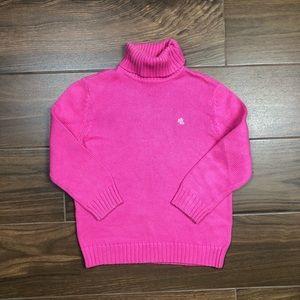 Lauren Ralph Lauren Petite Pink Turtleneck Sweater